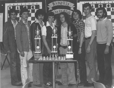 The 1978 US Junior Championship lineup. GM John Fedorowicz, far right.